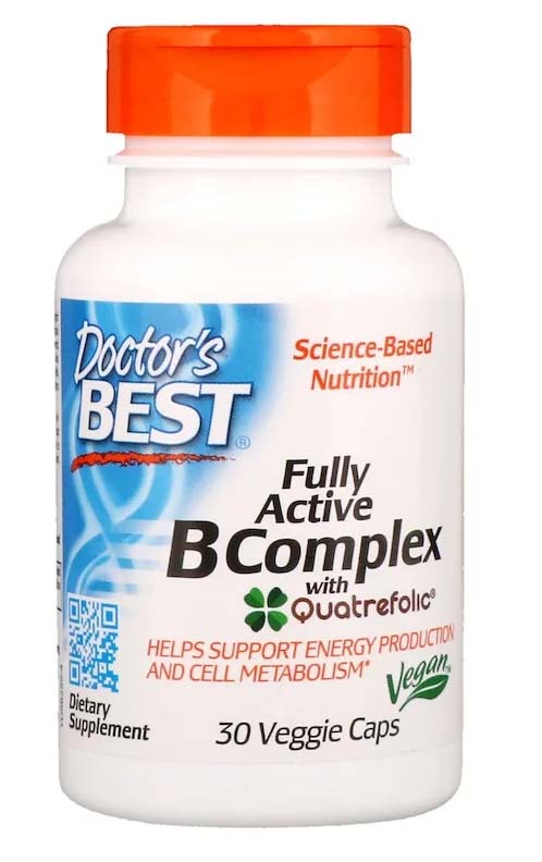 DOCTORS BEST Fully Active B komplex 30 kapsúl